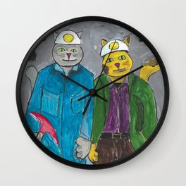 West Virginia Cat Wall Clock