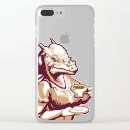 Stigimoloch tea time Clear iPhone Case