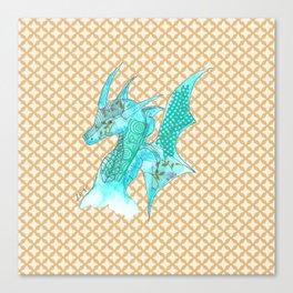 Dragon Blue Canvas Print