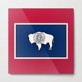 Wyoming State Flag Metal Print