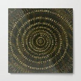 Elder Futhark Spiral Art Metal Print