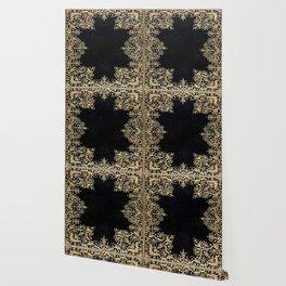 Black and Gold Filigree Wallpaper