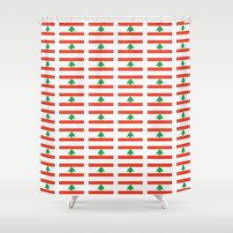 Flag of Lebanon-Lebanese,لبنان ,liban,libanais,beirut,cannaanite,phienician. Shower Curtain