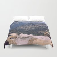 yosemite Duvet Covers featuring Yosemite Valley by Richard PJ Lambert