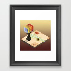 In the Rays of a Cloudless Sun Framed Art Print