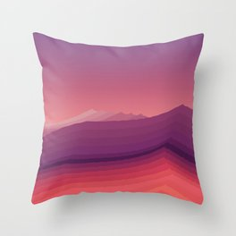 iso mountain evening Throw Pillow