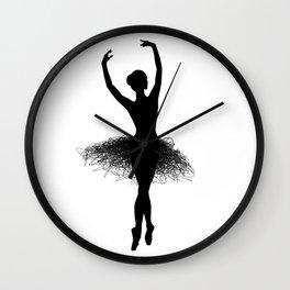 Ballerina Silhouette Wall Clock