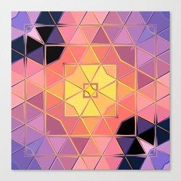 yellow pink violet black sqaure Canvas Print