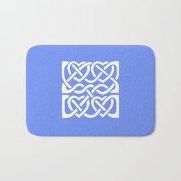 Celtic Knot Blue Hearts Bath Mat