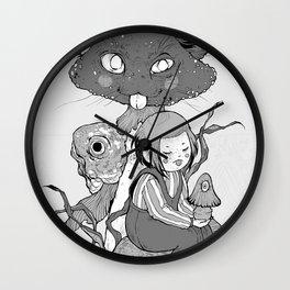 mush cat Wall Clock