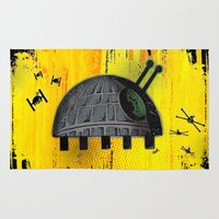 death star Area & Throw Rugs featuring Death Star Bug by TheCore