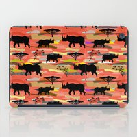 rhino iPad Cases featuring Rhino by misslin