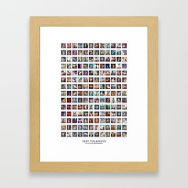 168 Sexy Polaroids Framed Art Print