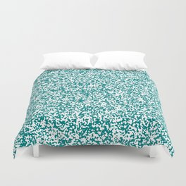 Tiny Spots - White and Dark Cyan Duvet Cover
