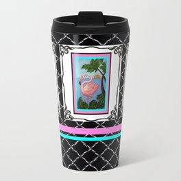 Flamingo Paradise Metal Travel Mug