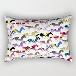 Off to the Horse Races Jockey Silk Pattern Rectangular Pillow