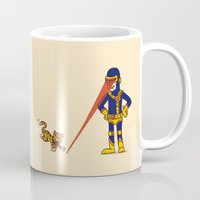 cyclops Mugs featuring Evil Cyclops by Rodrigo Ferreira