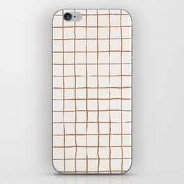 Imperfect Grid in Ivory and Clay iPhone Skin