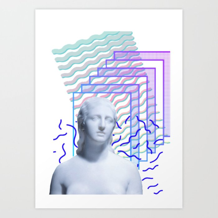 vaporwave greek art print by ultramar society6