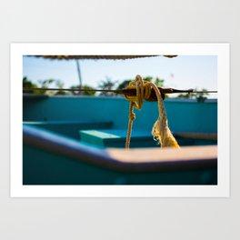 Row, Row, Row My Boat... Art Print