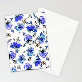 Watercolor Floral Pattern Stationery Cards