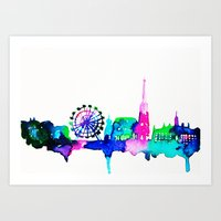 vienna Art Prints featuring Vienna by Talula Christian