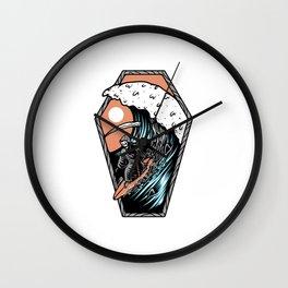 Surf Till Die Wall Clock
