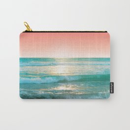 Aqua and Coral, 1 Carry-All Pouch
