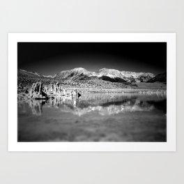 Mono Lake Black and white Art Print