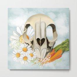 Rabbit Skull Cenotaph Metal Print