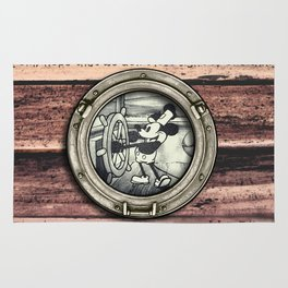 Steamboat Willie Rug