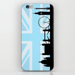 London Sites Skyline and Blue Union Jack/Flag iPhone Skin