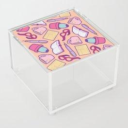 Book Club Pattern in Peach Acrylic Box