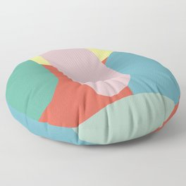 Color pebble abstract Floor Pillow