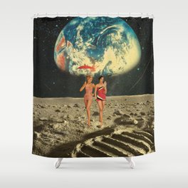 Moonlight Girl Party Shower Curtain