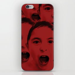 Shout, shout, let it all red iPhone Skin