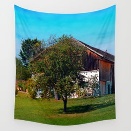 The tree and the farm Wall Tapestry