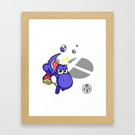 3....2....1...GO! : Yoshi(blue) Framed Art Print