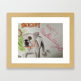 Bochy the frenchie Framed Art Print