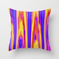 tie dye Throw Pillows featuring Tie Dye Sky by Vikki Salmela