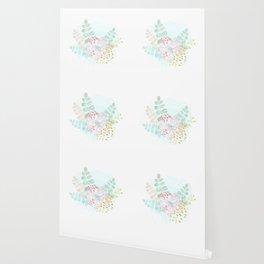 Paint splatter flower Wallpaper