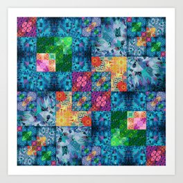 High Definition Geometric Quilt 1 Art Print