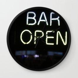 Bar Open Wall Clock
