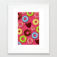 donut Framed Art Prints featuring DONUT by Ylenia Pizzetti