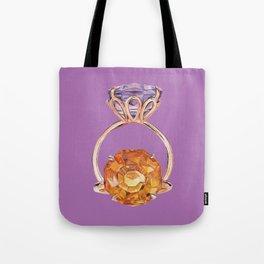 Circles on Purple Tote Bag