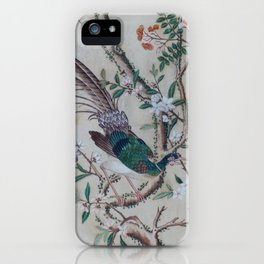 Antique Chinoiserie with Bird iPhone Case