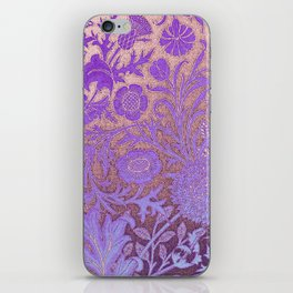Wiiliam Morris revamped, art nouveau pattern iPhone Skin