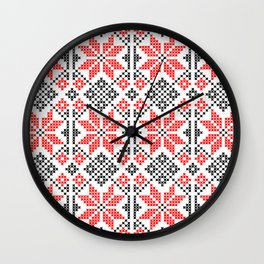Romanian Traditional Embroidery Wall Clock