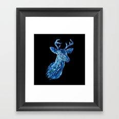Аmazing deer head Framed Art Print