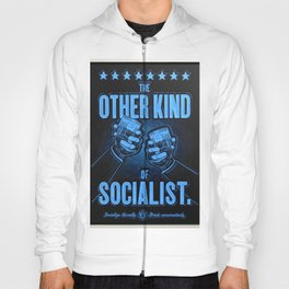 """Vintage Poster """"The Other Kind of Socialist"""" Alcoholic Lithograph Advertisement in dark blue Hoody"""